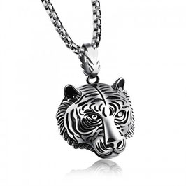 ELVIR – Tiger Head Halskette SILBER