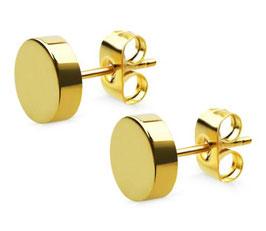 ***TED - Herrenohrstecker Edelstahl GOLD