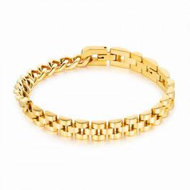 ***KIM - Herrenarmband aus Edelstahl GOLD