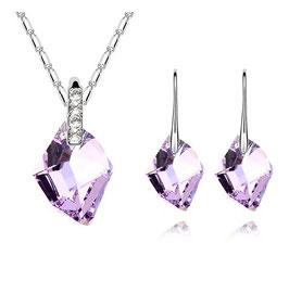 ***CHATAINE - Kristall Schmuckset Violett
