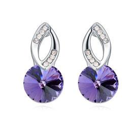 THEA - Kristallohrhänger Violette