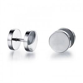ALBIN - Ohrstecker / Fake-Plugs Silber