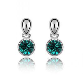 MURA - Kristallohrhänger Smaragdgrün
