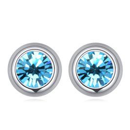 LISA - Kristallohrstecker Hellblau
