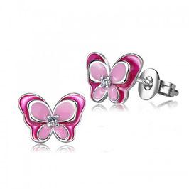 ***FELI - Schmetterling Ohrringe PINK-ROSA