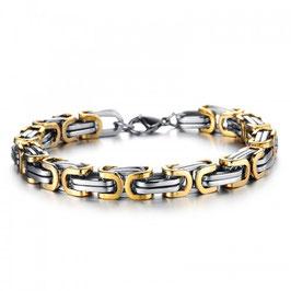 ***WILMER - Königsketten Armband BICOLOR GOLD
