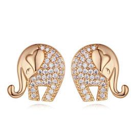 ORNELLA - Elefanten Ohrringe GELBGOLD