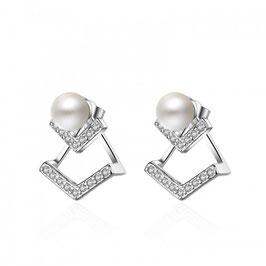 NEDA - Earjackets Perle und Zirkonia