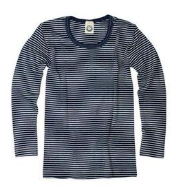 Детскa блуза от мериносова вълна и коприна в синьо