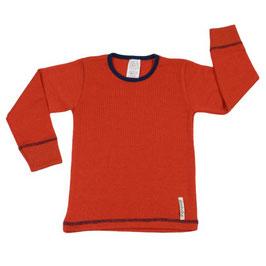Мерино блуза с дълъг ръкав оранжева