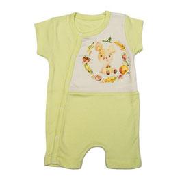 Бебешки летен гащеризон с къс ръкав