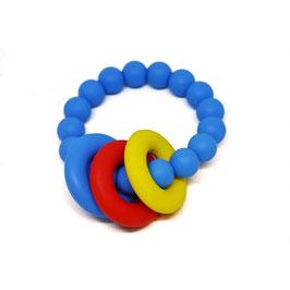 Силиконова гризалка - синя