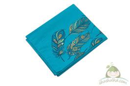Тъкан слинг с панел пера син