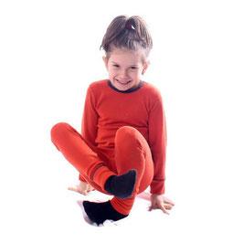 Мерино комплект блуза и клин в оранжево