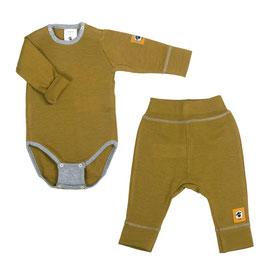 Бебешки комплект - боди и панталонки от мериносова вълна