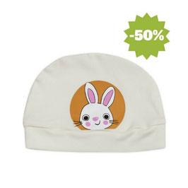 Бебешка шапка от био памук бяла