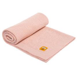 Бебешко одеяло 100% мерино вълна, цвят пудра
