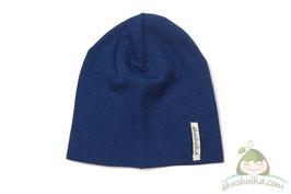Мерино шапка синя