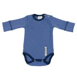 Бебешко боди от мериносова вълна синьо