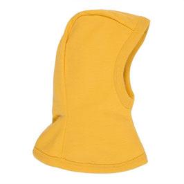 Балаклава (шапка-шал) за бебета и деца, 100% мерино, жълта