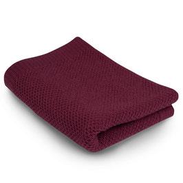 Бебешко одеяло от мериносова вълна, 80х100см - тъмно розово