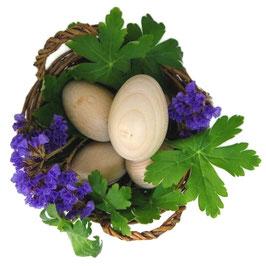 Дървени яйца за игра и боядисване