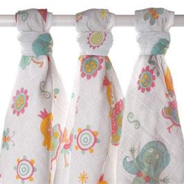 Бебешки пелени, 80х80см, десен за момичета