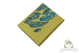 Тъкан слинг с панел пера зелен