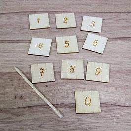 Цифри за проследяване - образователни дървени играчки