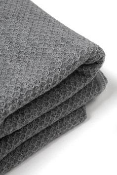 Голямо мериносово одеяло - сиво