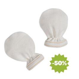 Бебешки ръкавички от био памук бели