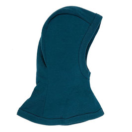 Балаклава (шапка-шал) за бебета и деца, 100% мерино, синя