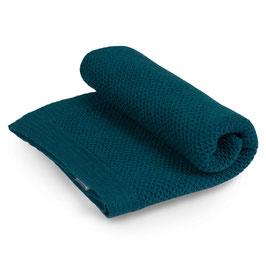 Бебешко одеяло от мериносова вълна, 80х100см - петролено