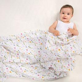 Меко одеяло от органичен муселин Summer Meadow
