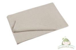 Голямо мериносово одеяло - светло сиво