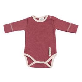 Бебешко боди от мериносова вълна розово
