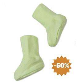 Бебешки терлички от био памук зелени