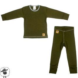 Детско термобельо - мерино комплект блуза и клин