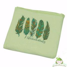 Еластичен слинг от органичен памук зелен