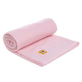 Бебешко одеяло от мериносова вълна, 80х100см - розово