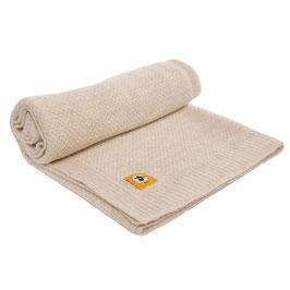 Бебешко одеяло от мериносова вълна, 80х100см - бежово