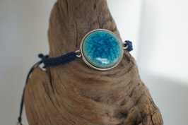 "Armband in Fassung mit Macrame-Band ""Big Blue Ocean"""