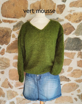 Pull pur mohair col V