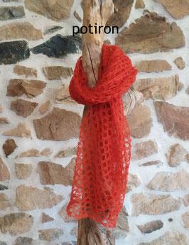 Carré tricoté