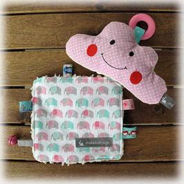 Geschenkset Elefanten rosa-mint