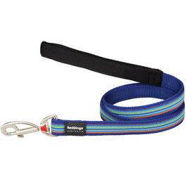 Red Dingo Dog Lead Stripe Dark Blue