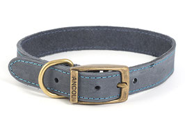 Ancol Timberwolf Leather Dog/Puppy Collar Blue