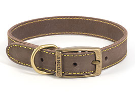 Ancol Timberwolf Leather Dog/Puppy Collar Sable