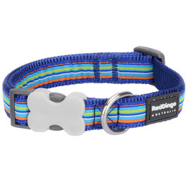 Red Dingo Dog/Puppy Collar Stripe Dark Blue