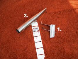 Système d'ancrage, tubes de fond, crochet d´ancrage